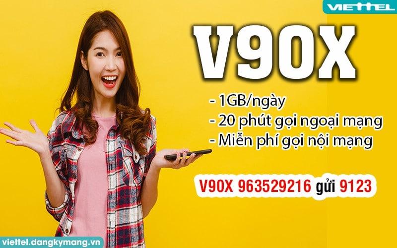 gói V90X Viettel chỉ 90k 1 tháng